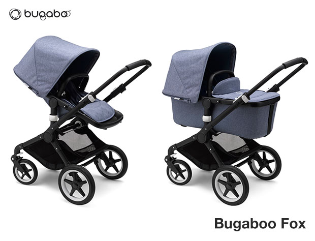 Bugaboo Fox - Passeggini Duo/Trio Melange - Fox White - Black