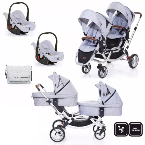 Passeggino Gemellare ABC Design - Zoom