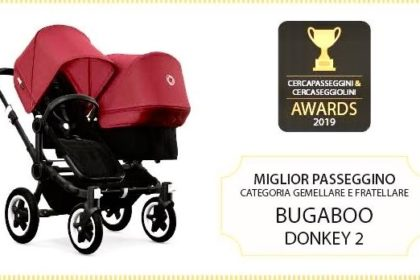 Bugaboo Donkey2 eletto miglior passeggino gemellare del 2019