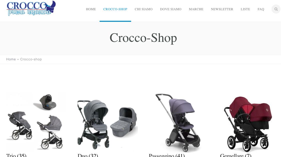 Crocco Prima Infanzia - E-Commerce